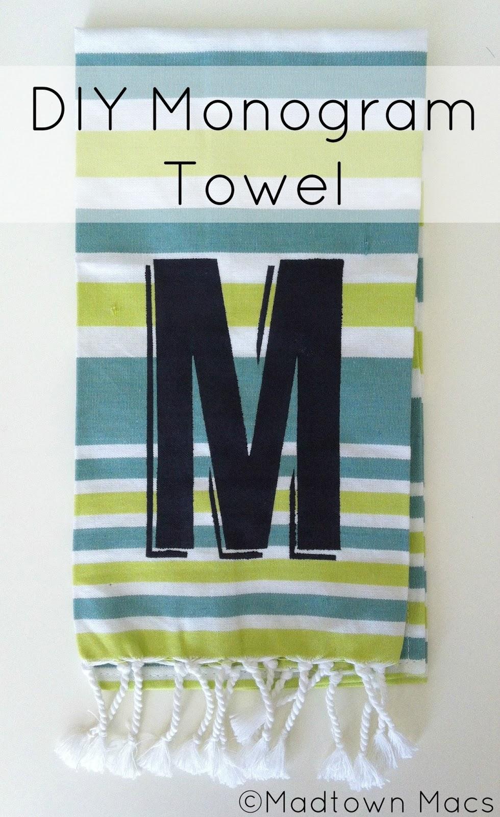 Make The Cut >> DIY Monogram Towel: West Elm Hack   Charisa Darling