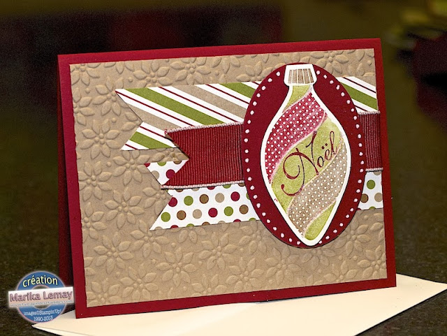 ornement keepsakes Stampin' UP!