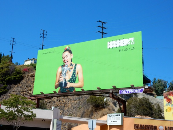Miley Cyrus MTV Video Music Awards billboard