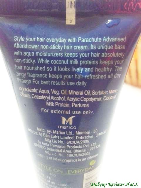 Parachute Hair Cream Ingredients & Usage