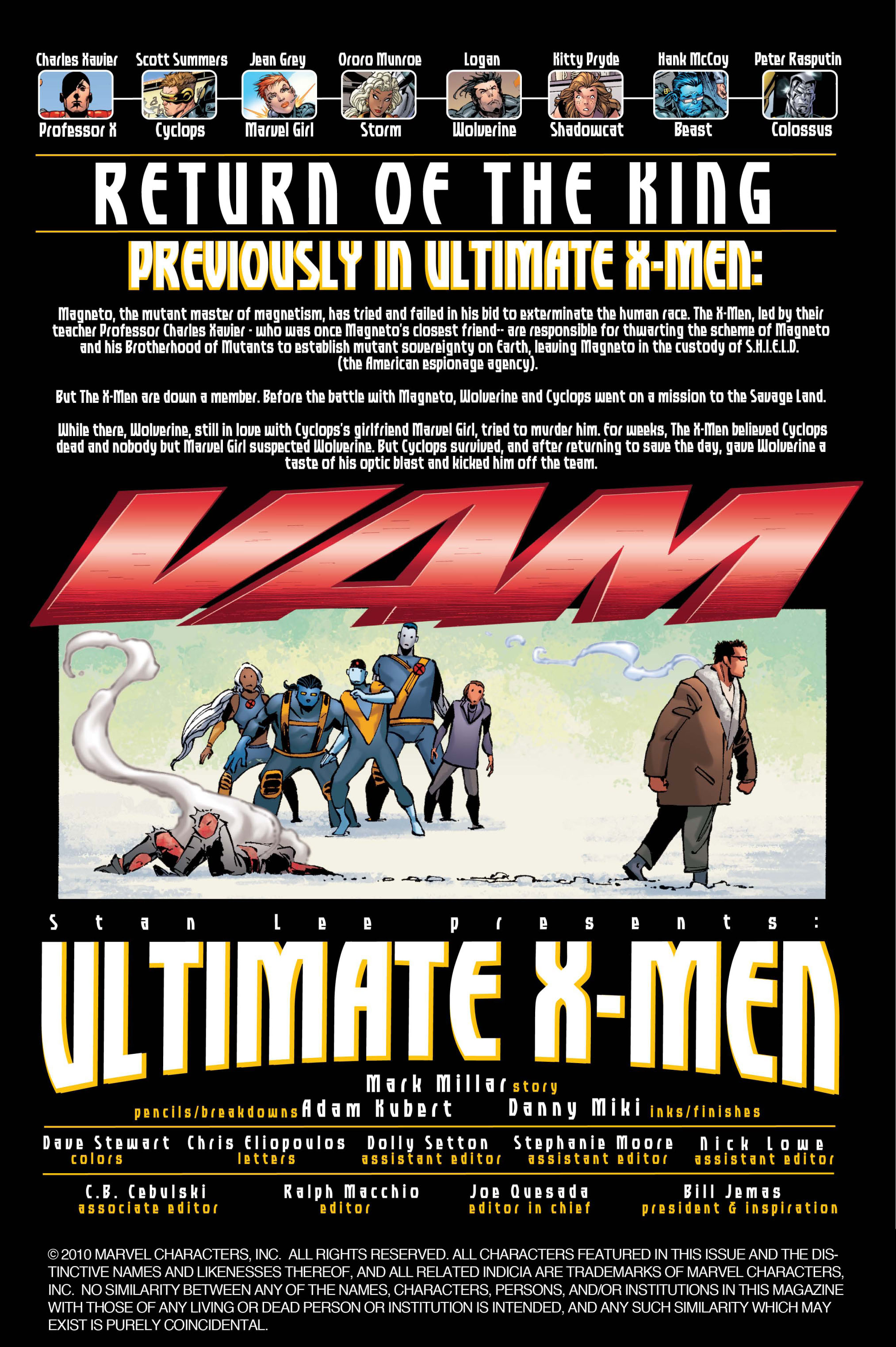 Read online Ultimate X-Men comic -  Issue #33 - 2