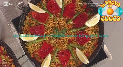 Fideuà de verdure ricetta Povedilla da Prova del Cuoco