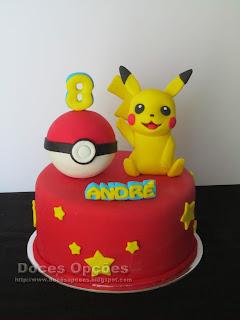 O Pikachu no 8º aniversário do André
