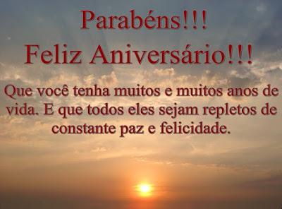 Parabéns feliz aniversario