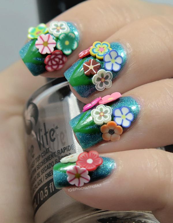 Nail Art The Digit Al Dozen Turns Five Bouquets Of Fimo Flowers