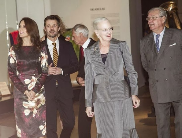 Crown Prince Frederik and Crown Princess Mary attended the opening of the exhibition of Pas De Deux