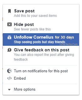 "Facebook ""Snooze"" Feature"