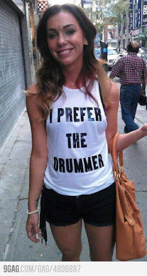 """I Prefer The Drummer"" shirt"