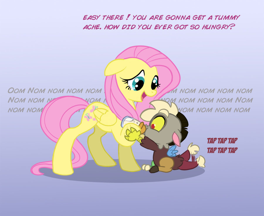 Baby Discord And Fluttershy Equestria Daily...