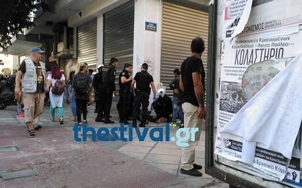 Αιματηρό επεισόδιο με μαχαίρι στο κέντρο της Θεσσαλονίκης