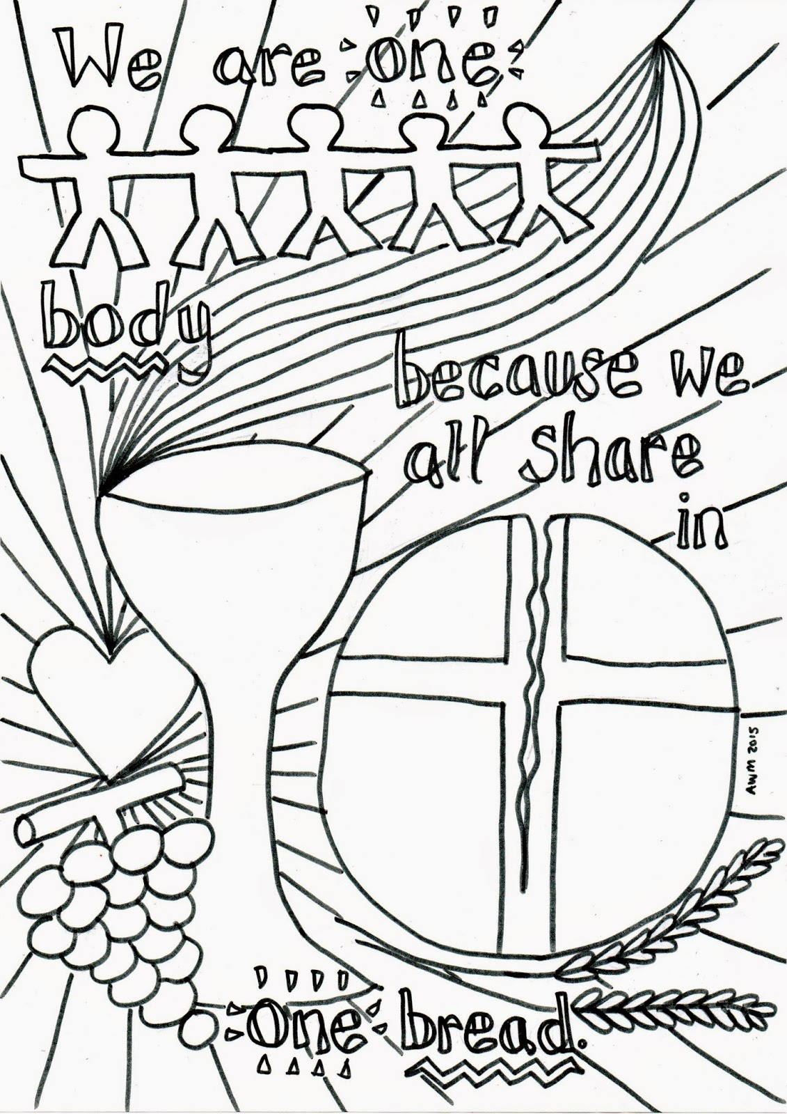eucharist coloring pages for children - photo#2