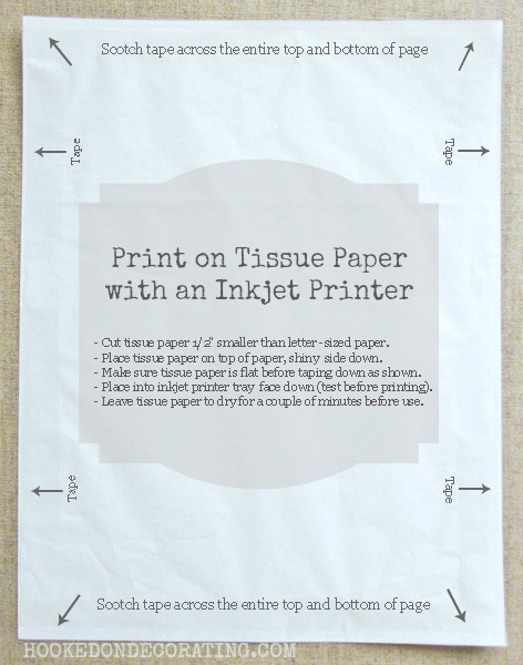 how to print on the tissue paper directions