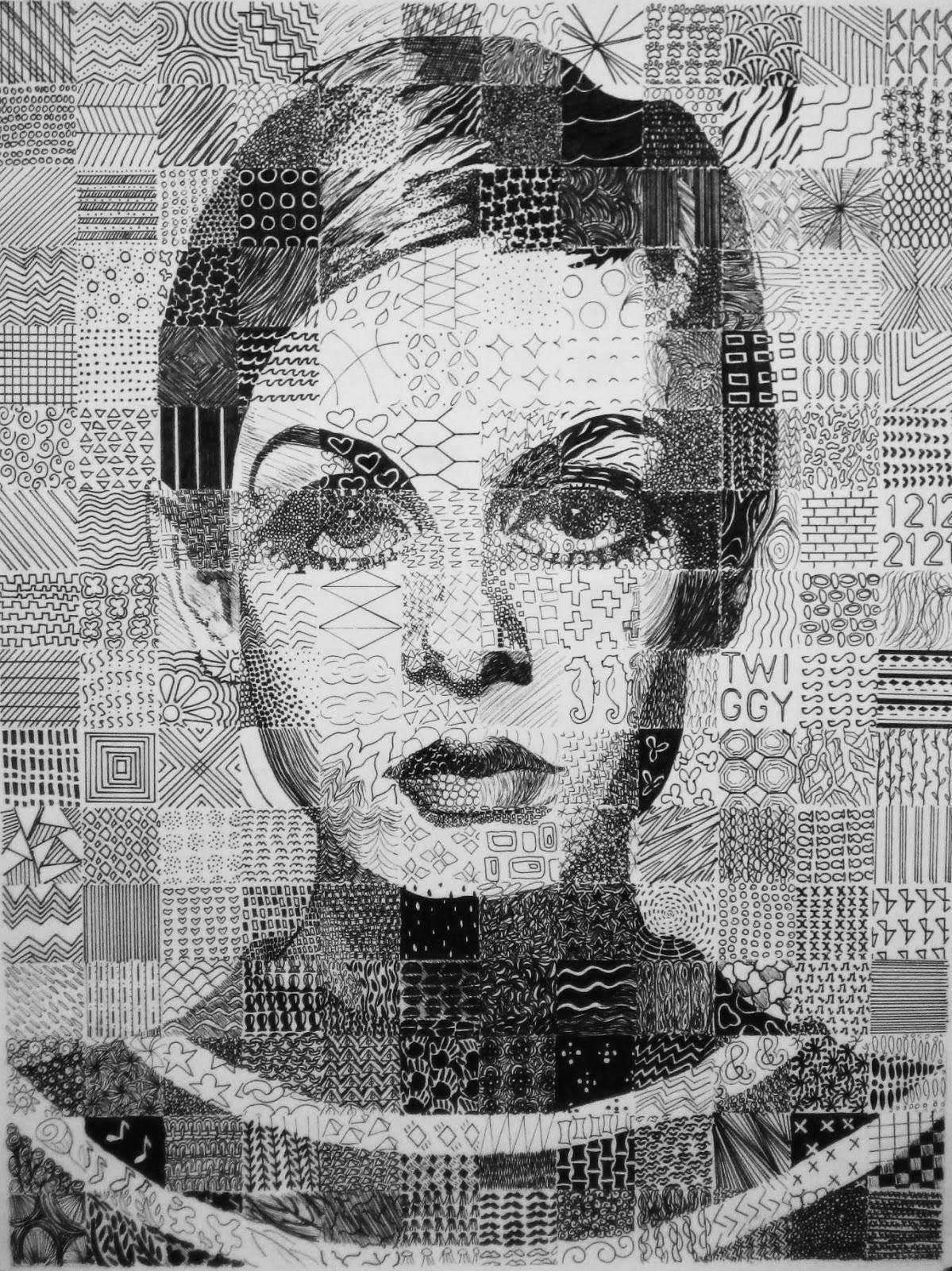 Ms Eaton S Phileonia Artonian Mosaic Grid Zendoodle Drawings
