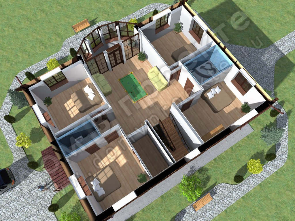 House planning with 3d floor plans compare old for 4 bedroom house designs 3d