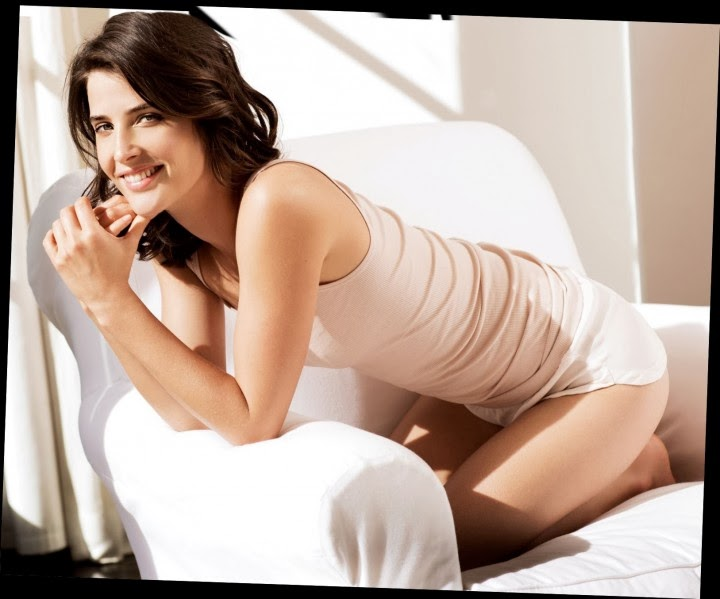Megan Markle Imdb >> Cobie Smulders lounges in underwear for Esquire March 2014