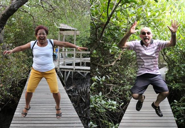 Salto en los manglares de Bali