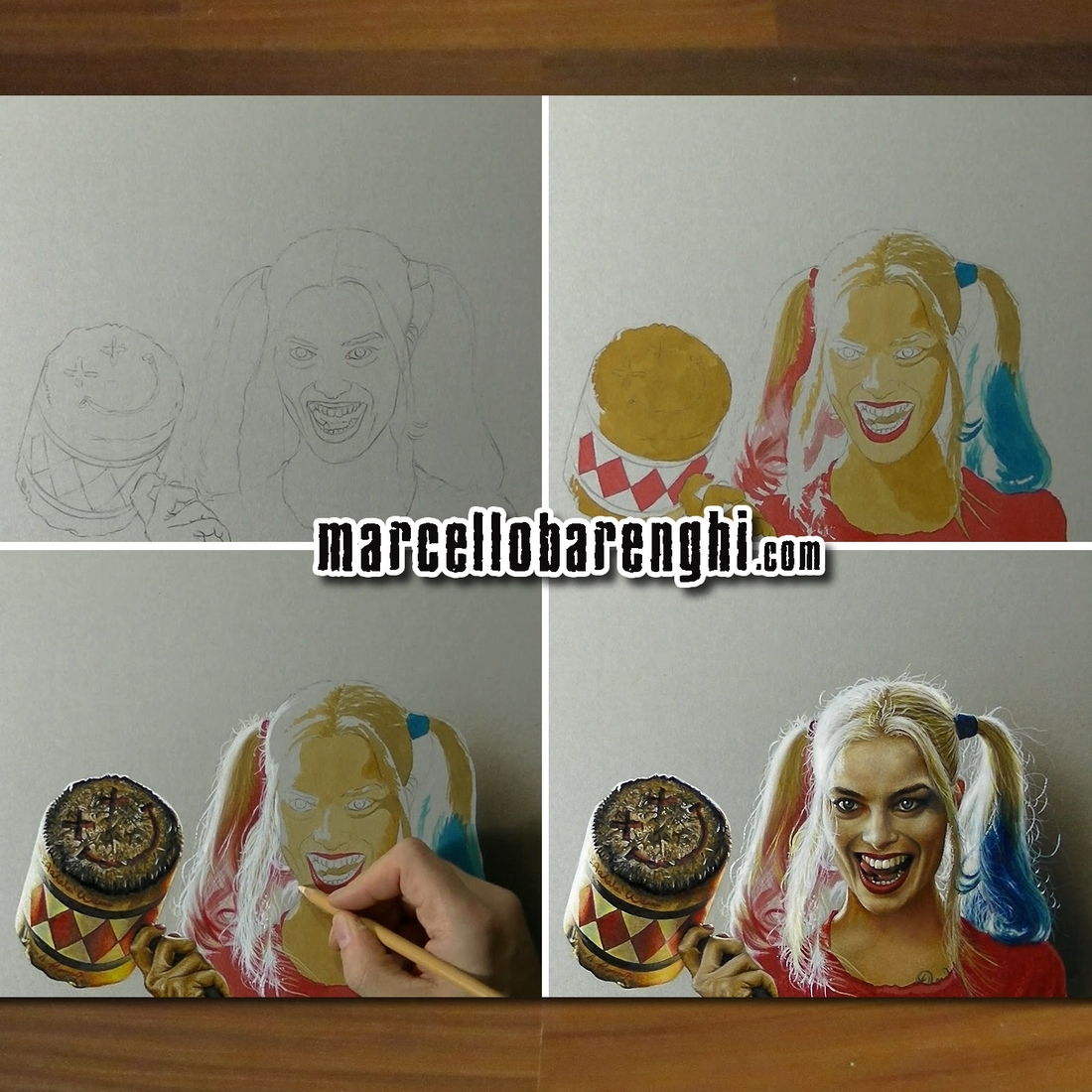 08-Harley-Quinn-Suicide-Squad-wip-Marcello-Barenghi-Exploring-Tiny-Details-of-Hyper-Realistic-Drawings-www-designstack-co