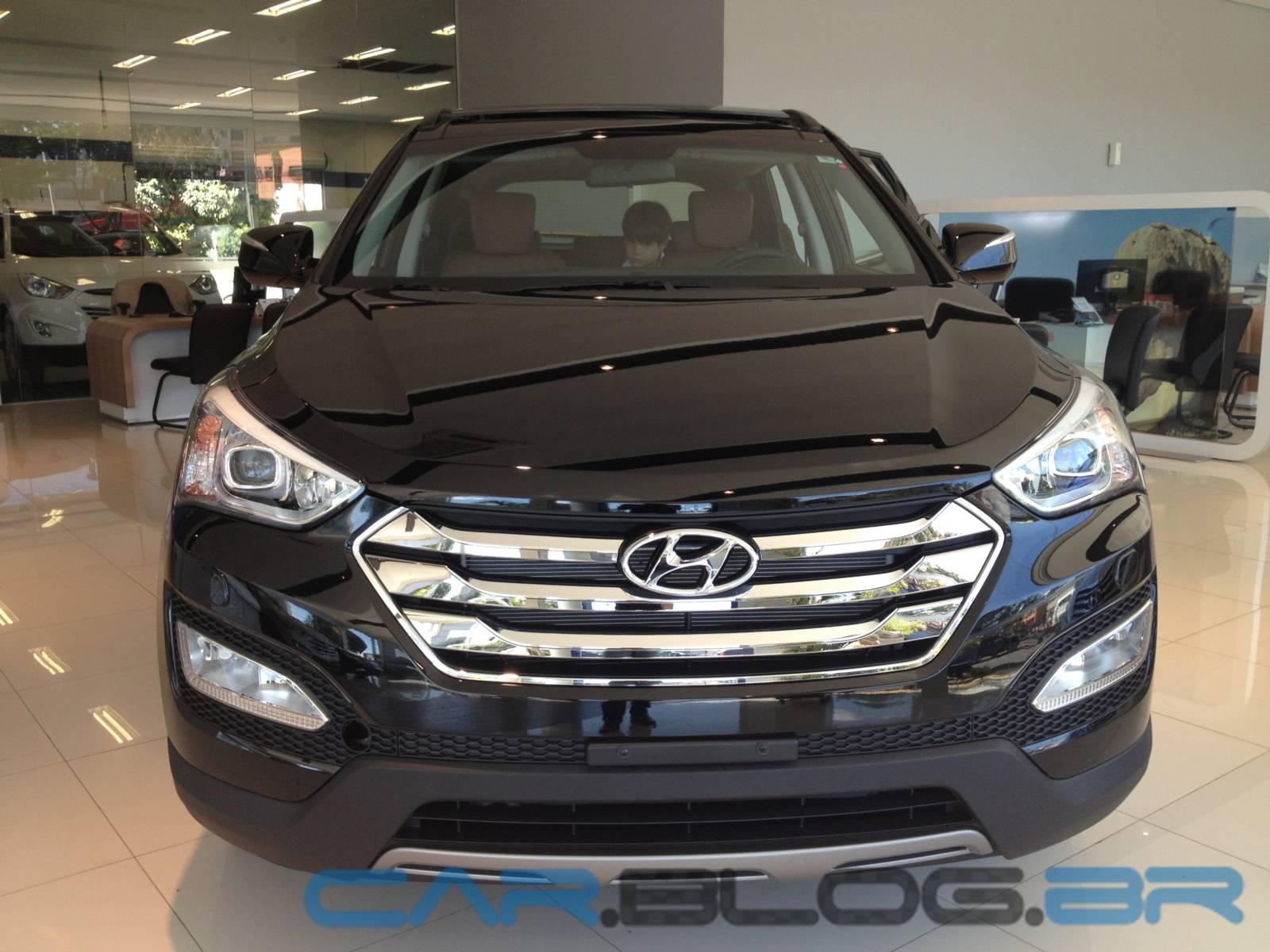 Novo Hyundai Santa Fé 2014   7 Lugares   Preta