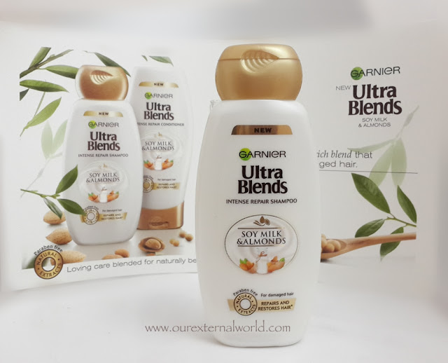 Garnier Ultra Blends Shampoos - Intense Repair With Soy Milk and Almonds