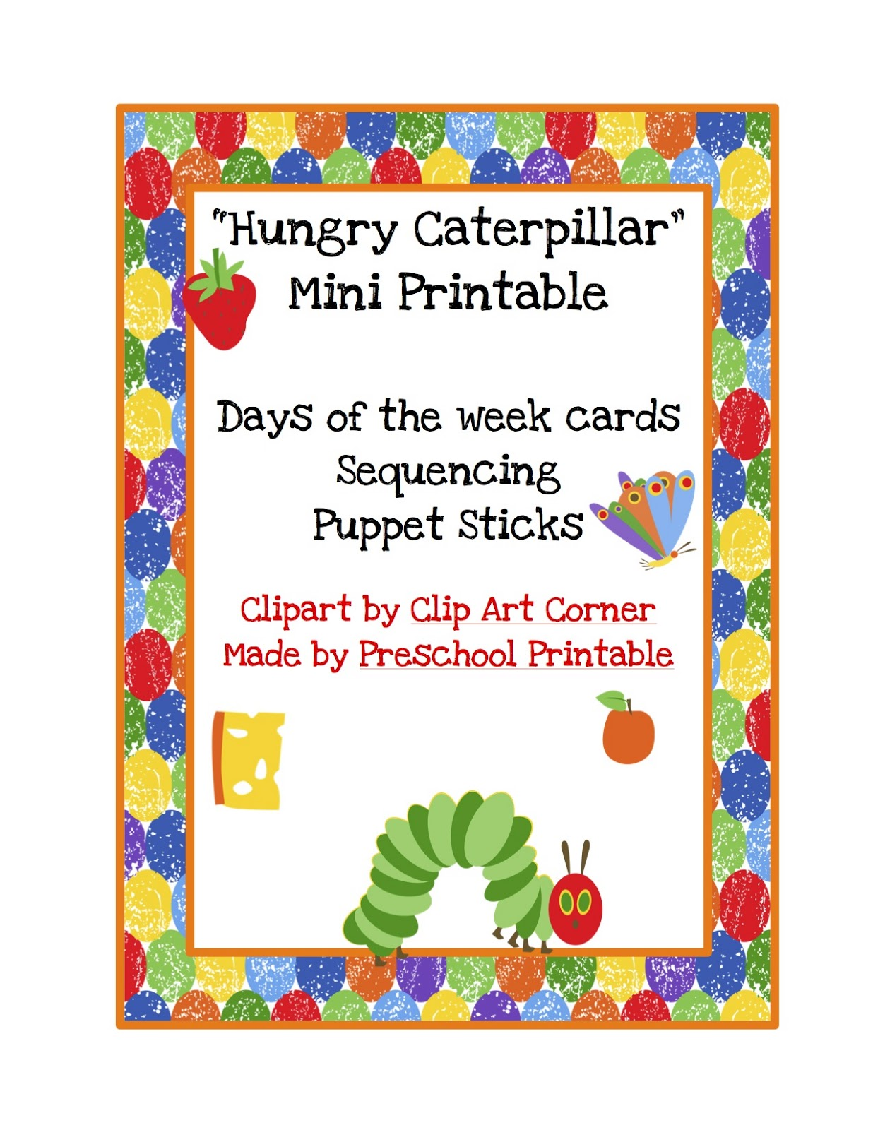 Preschool Printables Free Hungry Caterpillar Mini Printable