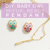 Adorable Beaded Baby Owl Pendant Tutorial