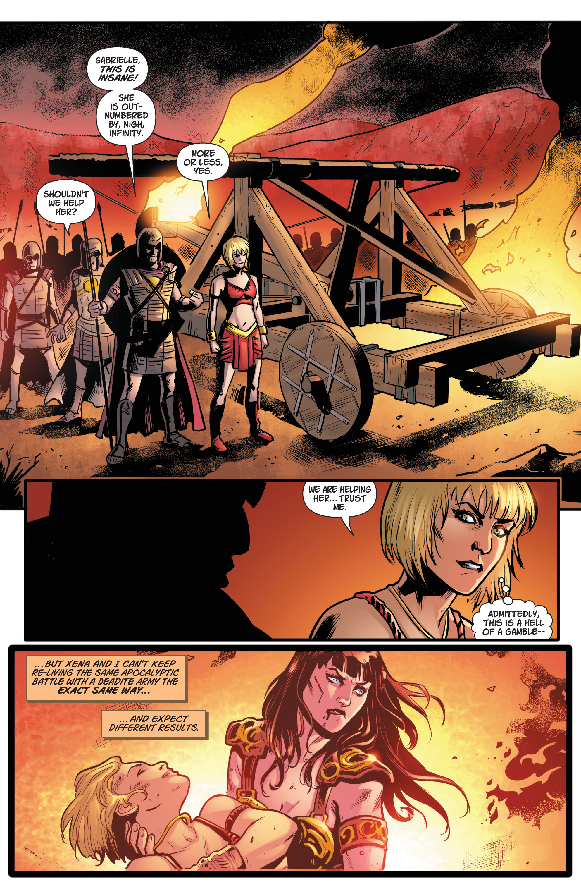 Read online Army Of Darkness/Xena: Forever…And A Day comic -  Issue #5 - 5