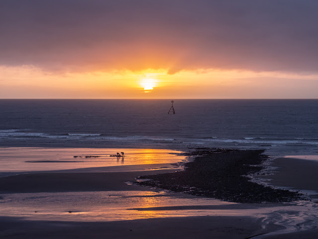 Another view of Tuesday evening's sunset on Maryport beach