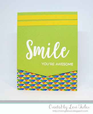 Smile, You're Awesome card-designed by Lori Tecler/Inking Aloud-stamps and dies from My Favorite Things