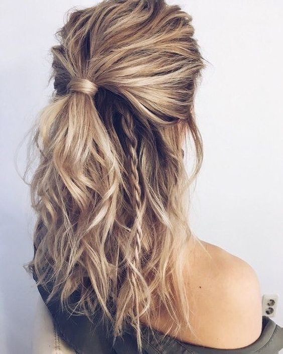 Beautiful Easy Half up-Half down Hairstyles for Your Perfect Everyday and Party Looks