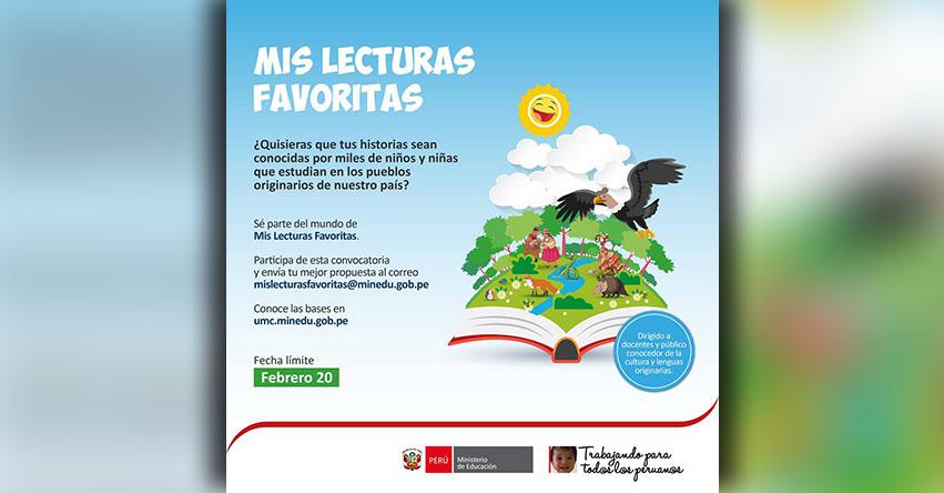 CONVOCATORIA 2018: «Mis Lecturas Favoritas» MINEDU - www.minedu.gob.pe