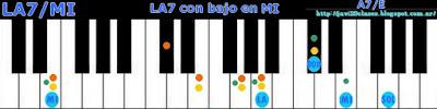 acorde piano chord la7 bajo en mi