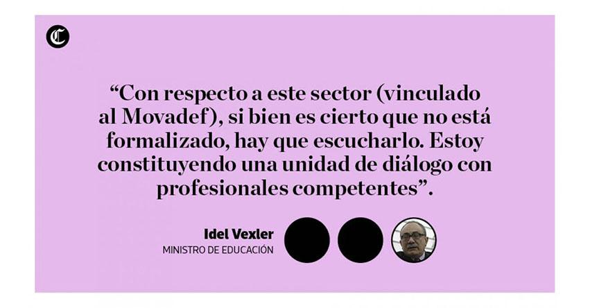MINEDU: Estos son los cambios que evalúa hacer en la carrera magisterial el Ministro de Educación Idel Vexler - www.minedu.gob.pe