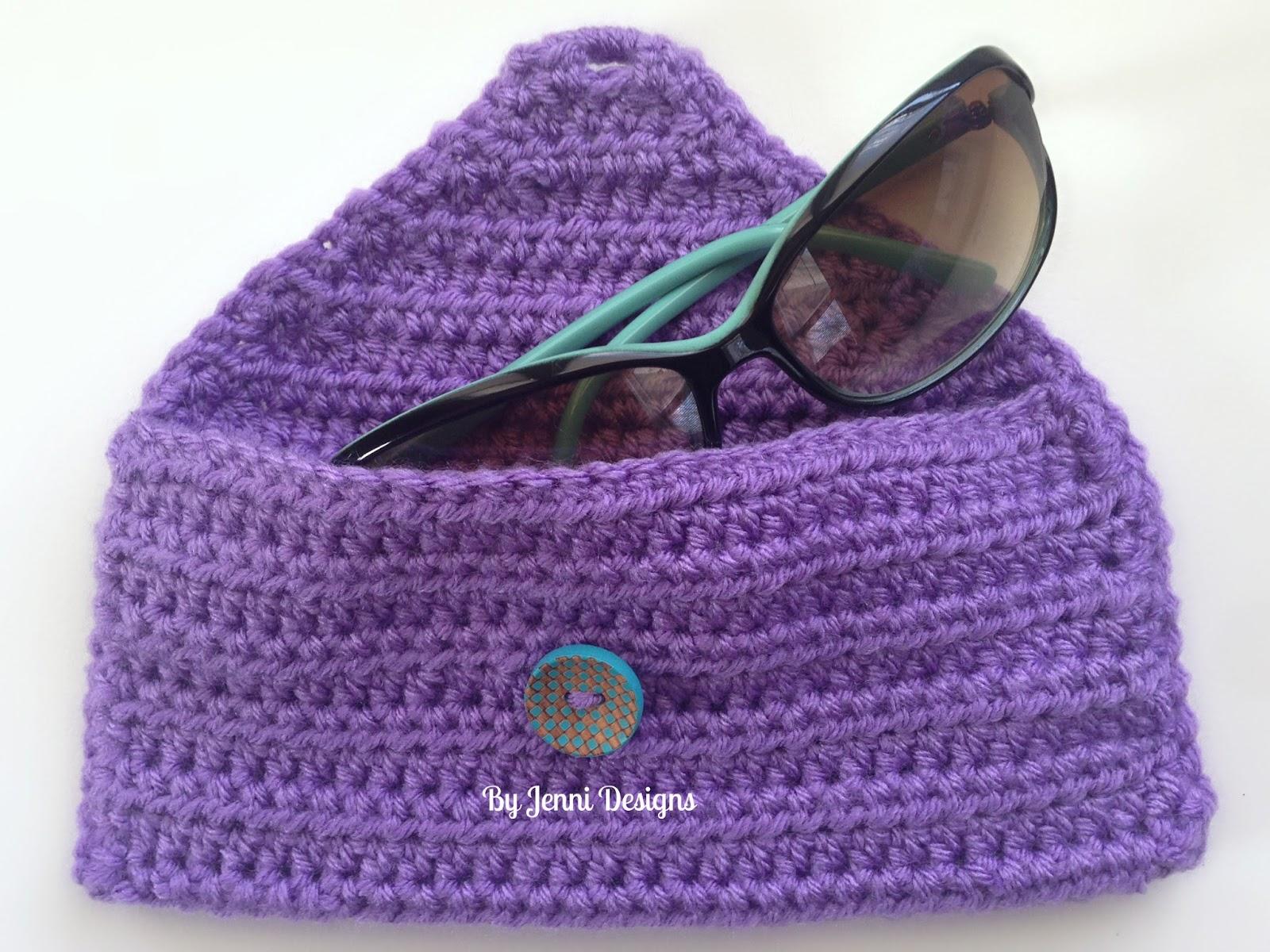 Easy Crochet Pouch Pattern : By Jenni Designs: Free Crochet Pattern: Easy Sunglass Pouch