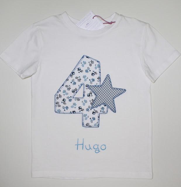 camiseta 4 años cumpleaños