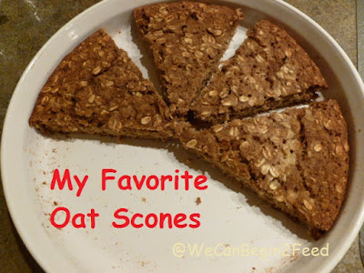 Oat Scones by @WeCanBegin2Feed