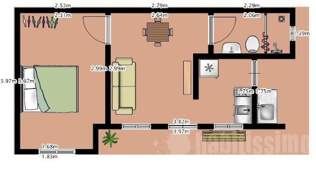 plantas de casa pequenas