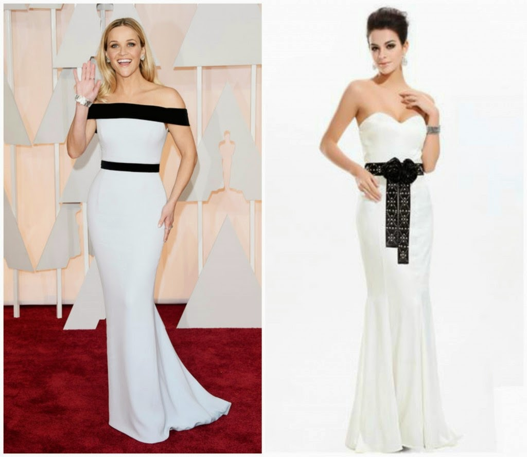 c8c16ccda7 One trend that we have been seeing a lot of recently is black and white  formal gowns! We for one must say that we love it! Last night Resse  Witherspoon wore ...