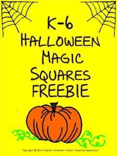 Halloween Magic Square FREEBIE!