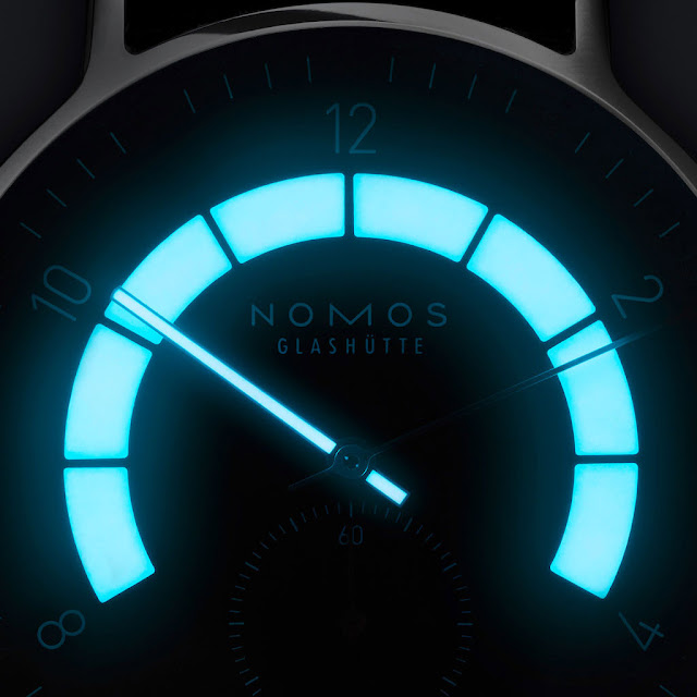 Lume of the Nomos Glashütte Autobahn
