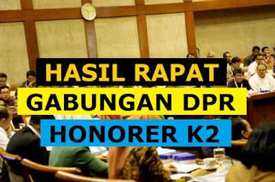 Hasil Rapat Gabungan DPR RI