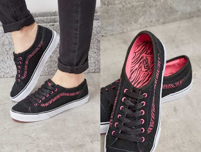 zapatillas de nobuk negras de Vans para mujer
