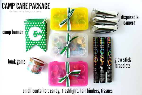 diy camp care package items