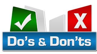 dos n donts Branding & Modeling Pt VI: Dos & Donts
