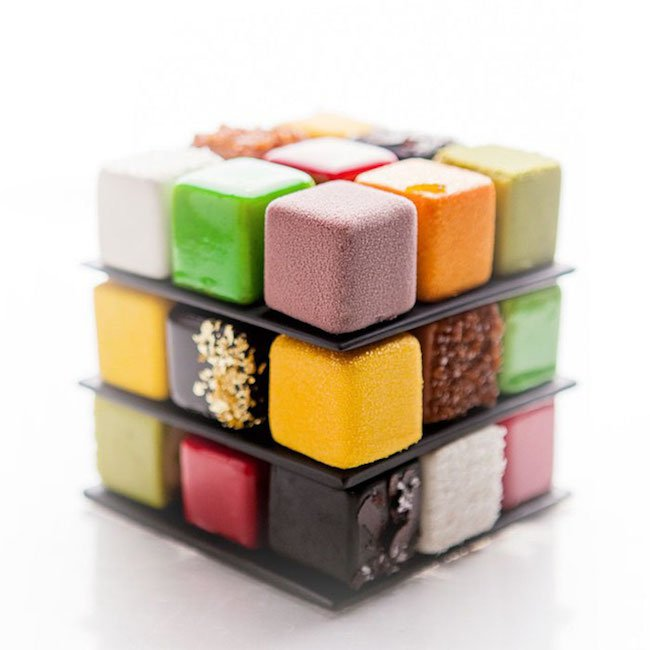 bolos feitos de cubos magicos 07 - Os cubos mágicos que você provavelmente adoraria devorar.