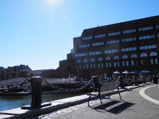 promenade le long du port de Boston