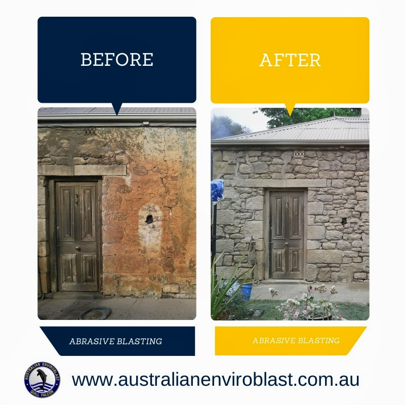 Heritage stone and brick work benefit from abrasive blasting