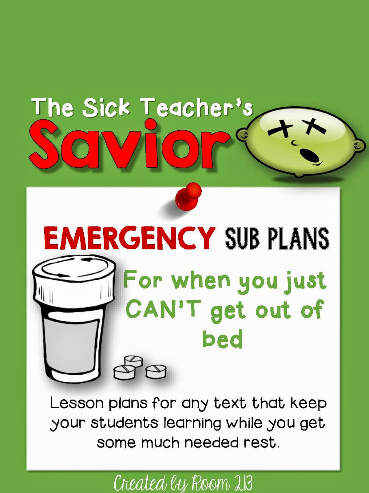 Planning to be sick? It's actually a great idea. Get plans ready for a substitute so when that day happens, you are ready to go!