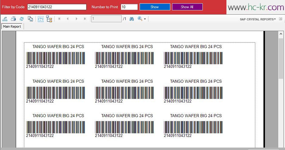 VB.NET Barcode Generator Print Product Label Using Crystal