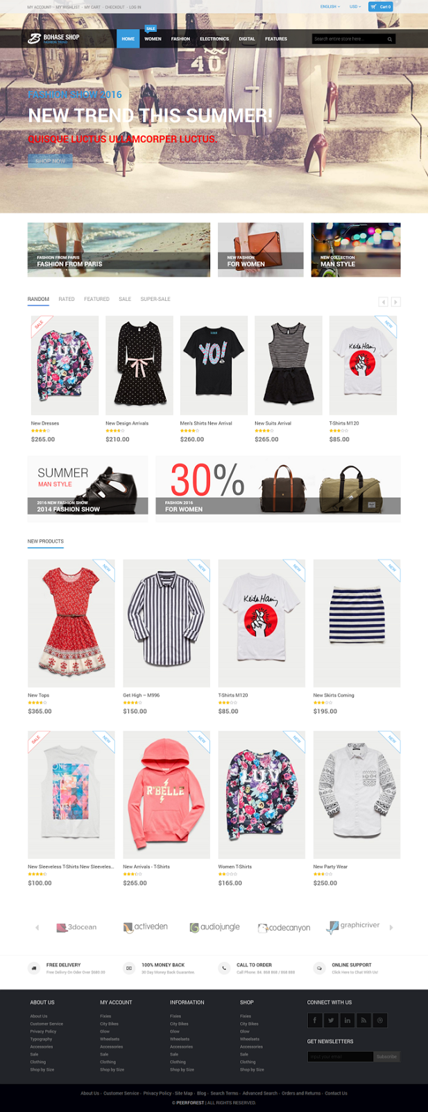 free eCommerce Template