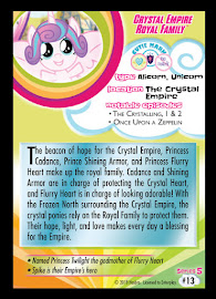My Little Pony Crystal Empire Royal Family Series 5 Trading Card